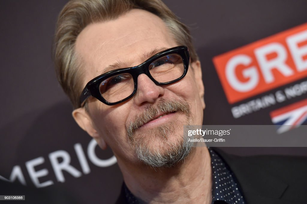 Actor Gary Oldman arrives at The BAFTA Los Angeles Tea Party at Four Seasons Hotel Los Angeles at Beverly Hills on January 6, 2018 in Los Angeles, California.