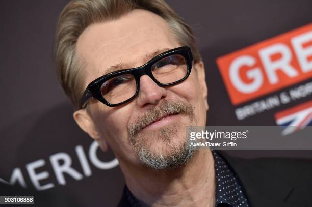 Actor Gary Oldman arrives at The BAFTA Los Angeles Tea Party at Four Seasons Hotel Los Angeles at Beverly Hills on January 6 2018 in Los Angeles...