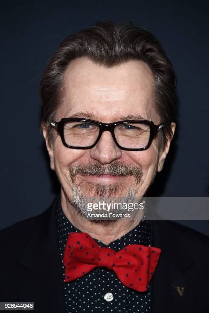 Actor Gary Oldman arrives at the Film Is GREAT Reception honoring the British Nominees of The 90th Annual Academy Awards at The British Residence on...