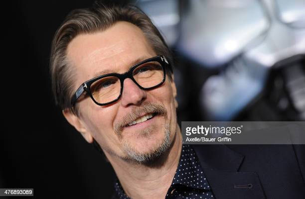 Actor Gary Oldman arrives at the Los Angeles premiere of 'RoboCop' at TCL Chinese Theatre on February 10 2014 in Hollywood California