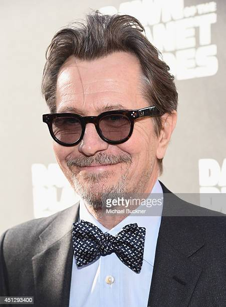 Actor Gary Oldman arrives at the premiere of 20th Century Fox's Dawn Of The Planet Of The Apes at Palace Of Fine Arts Theater on June 26 2014 in San...