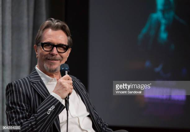 Actor Gary Oldman attends SAGAFTRA Foundation Conversations screening of 'Darkest Hour' at SAGAFTRA Foundation Screening Room on January 12 2018 in...
