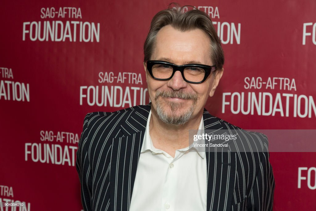 Actor Gary Oldman attends SAG-AFTRA Foundation Conversations screening of 'Darkest Hour' at SAG-AFTRA Foundation Screening Room on January 12, 2018 in Los Angeles, California.