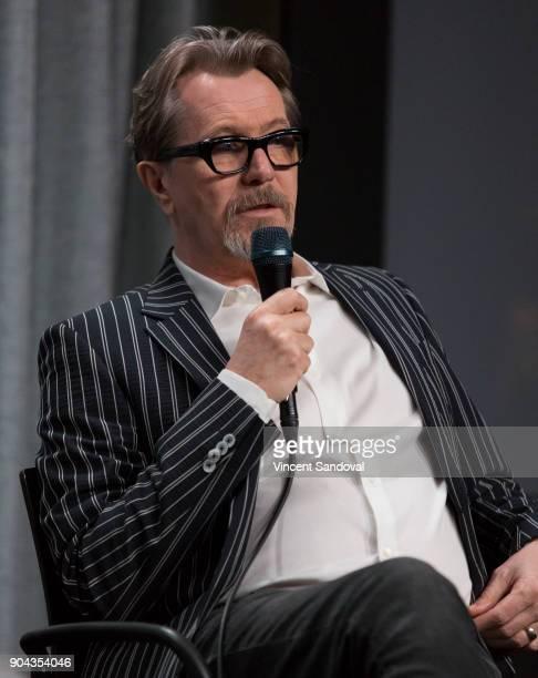 Actor Gary Oldman attends SAGAFTRA Foundation Conversations screening of 'Darkest Hour' at SAGAFTRA Foundation Screening Room on January 12 2018 in...
