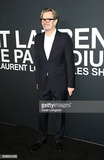 Actor Gary Oldman attends Saint Laurent at Hollywood Palladium on February 10 2016 in Los Angeles California