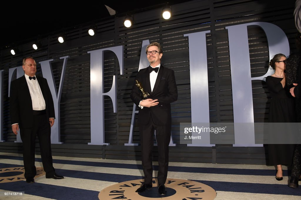 Actor Gary Oldman attends the 2018 Vanity Fair Oscar Party hosted by Radhika Jones at the Wallis Annenberg Center for the Performing Arts on March 4, 2018 in Beverly Hills, California.