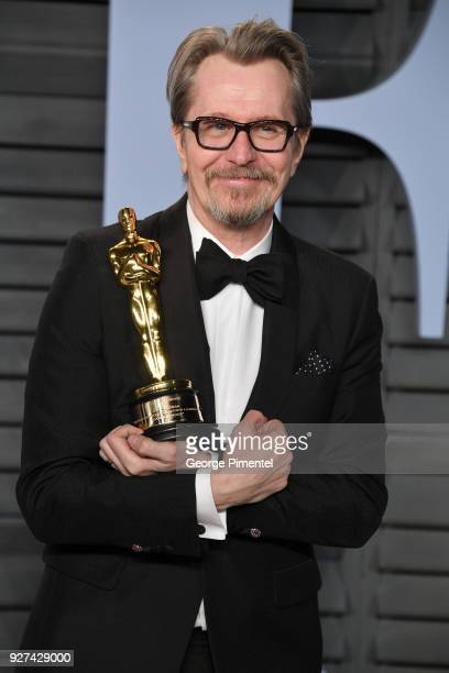 Actor Gary Oldman attends the 2018 Vanity Fair Oscar Party hosted by Radhika Jones at Wallis Annenberg Center for the Performing Arts on March 4 2018...