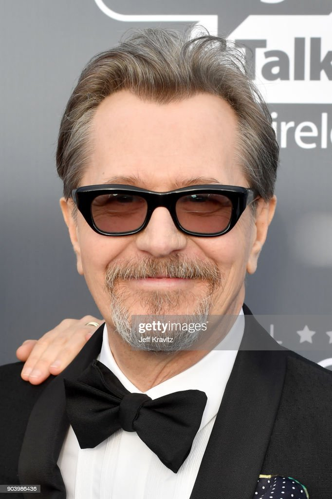 Actor Gary Oldman attends The 23rd Annual Critics' Choice Awards at Barker Hangar on January 11, 2018 in Santa Monica, California.