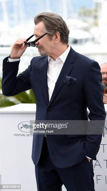 Actor Gary Oldman attends the RendezVous with Gary Oldman Photocall during the 71st annual Cannes Film Festival at Palais des Festivals on May 17...
