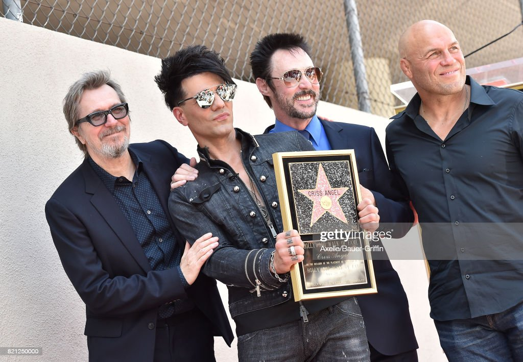 Criss Angel Honored With Star On The Hollywood Walk Of Fame : Fotografia de notícias