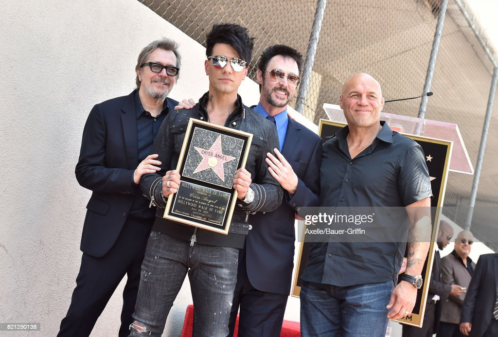 Criss Angel Honored With Star On The Hollywood Walk Of Fame : News Photo