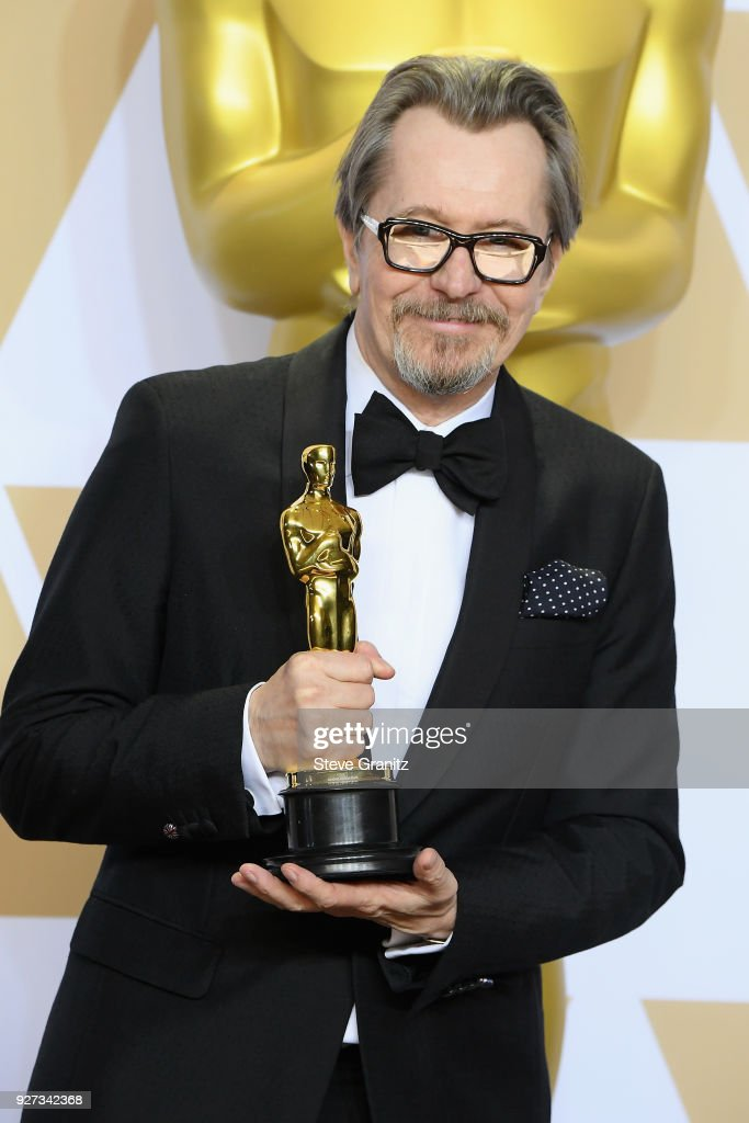 Actor Gary Oldman winner of Best Actor for 'Darkest Hour' poses in the press room during the 90th Annual Academy Awards at Hollywood & Highland Center on March 4, 2018 in Hollywood, California.