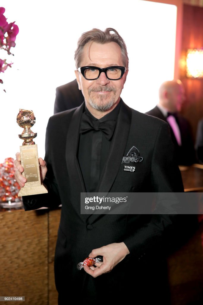 Actor Gary Oldman, winner of the award for Best Performance by an Actor in a Motion Picture (Drama) for 'Darkest Hour,' attends the Official Viewing and After Party of The Golden Globe Awards bosted by The Hollywood Foreign Press Association on January 7, 2018 in Beverly Hills, California.