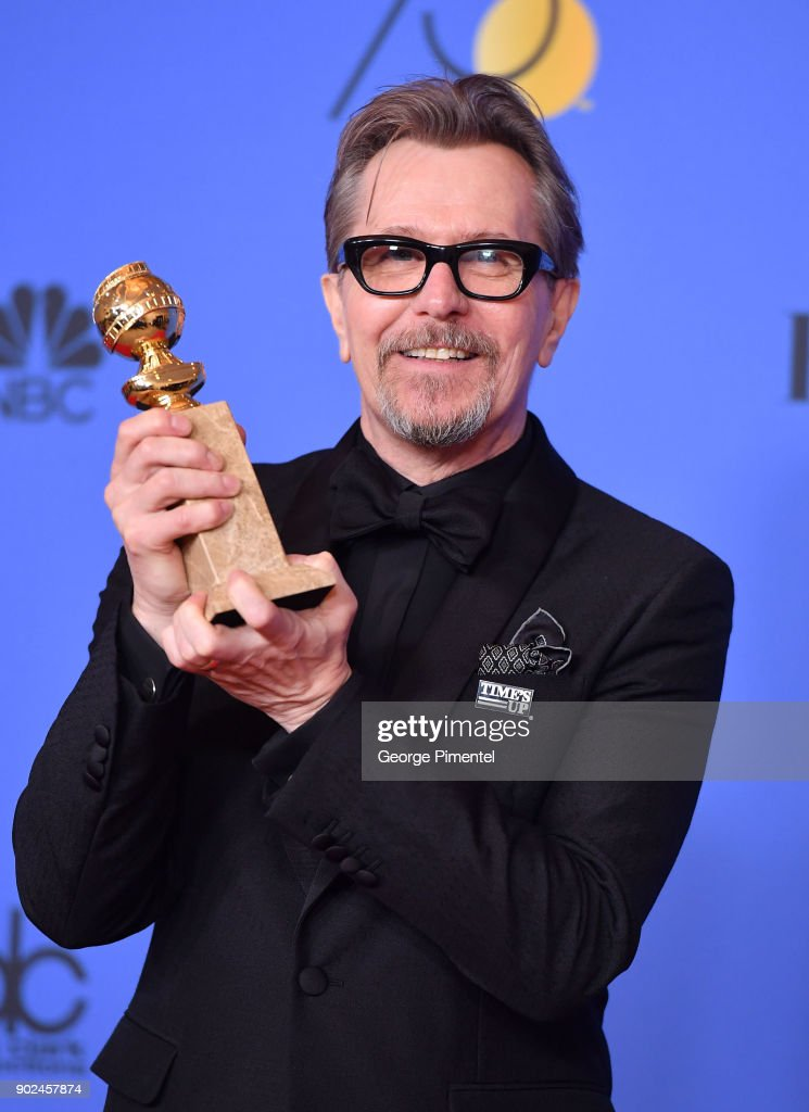Actor Gary Oldman, winner of the award for Best Performance by an Actor in a Motion Picture (Drama) for 'Darkest Hour,' poses in the press room during The 75th Annual Golden Globe Awards at The Beverly Hilton Hotel on January 7, 2018 in Beverly Hills, California.