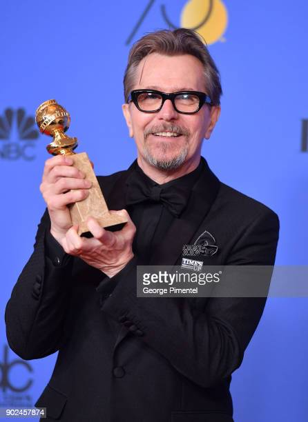 Actor Gary Oldman winner of the award for Best Performance by an Actor in a Motion Picture for 'Darkest Hour' poses in the press room during The 75th...