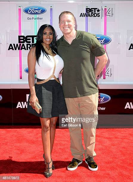 Actor Gary Owen and Kenya Duke attend the BET AWARDS '14 at Nokia Theatre LA LIVE on June 29 2014 in Los Angeles California