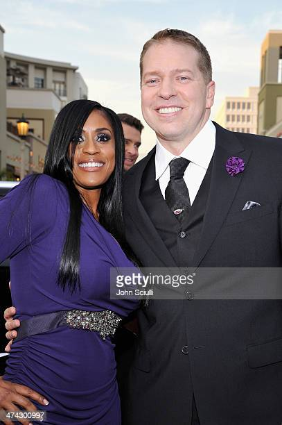 Actor Gary Owen and Kenya Duke Owen attends the 45th NAACP Image Awards presented by TV One at Pasadena Civic Auditorium on February 22 2014 in...