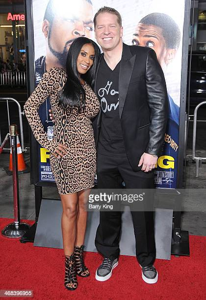 Actor Gary Owen and wife Kenya Duke arrive at the Los Angeles premiere of 'Ride Along' on January 13 2014 at TCL Chinese Theatre in Hollywood...