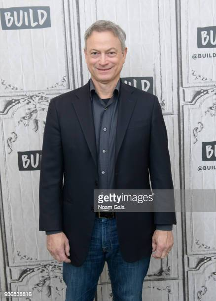Actor Gary Sinise visits Build Series to discuss 'Snowball Express' at Build Studio on March 22, 2018 in New York City.