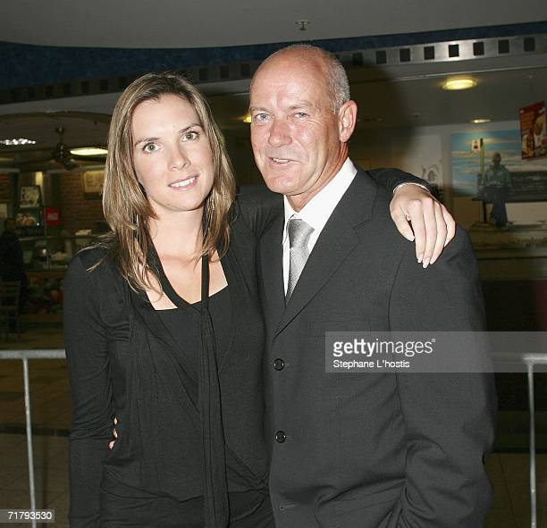 Actor Gary Sweet and his partner Nadia Dyall attend the opening night of Macbeth at the Greater Union Cinemas on September 6 2006 in Sydney Australia