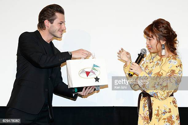 Actor Gaspard Ulliel and Chihiro Kondo attend the 'It's Only the End of the World' Premiere on December 13 2016 in Tokyo Japan