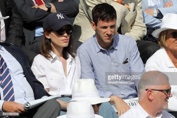 Actor Gaspard Ulliel and his wife Gaelle Pietri are spotted at Roland Garros on June 7 2017 in Paris France