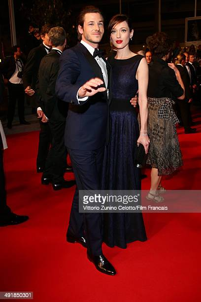 Actor Gaspard Ulliel and partner Gaelle Pietri attend the Saint Laurent Premiere at the 67th Annual Cannes Film Festival on May 17 2014 in Cannes...