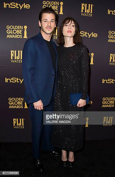 Actor Gaspard Ulliel attends the reveal of Miss Golden Globe 2017 during the celebration of the 2017 Golden Globe Award season by The Hollywood...
