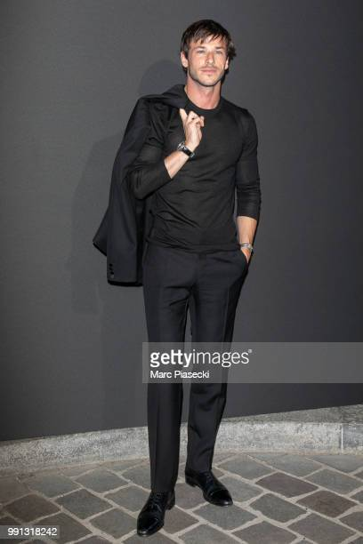 Actor Gaspard Ulliel attends the Vogue Foundation Dinner Photocall as part of Paris Fashion Week Haute Couture Fall/Winter 20182019 at Musee Galliera...