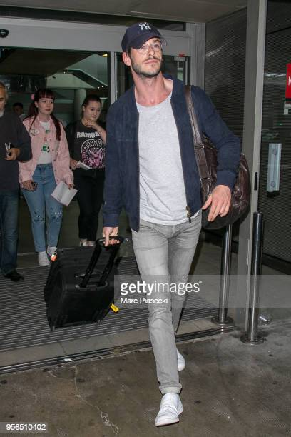 Actor Gaspard Ulliel is seen during the 71st annual Cannes Film Festival at Nice Airport on May 9 2018 in Nice France