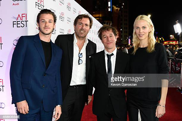 Actor Gaspard Ulliel producer Christophe Lambert Director/writer Bertrand Bonello and actress Aymeline Valade attend a special screening of 'Saint...