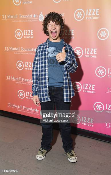 Actor Gaten Matarazzo attends Camp IZZE to celebrate the launch of IZZE FUSIONS on April 8 2017 in Brooklyn New York