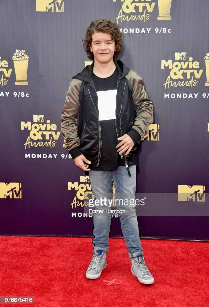 Actor Gaten Matarazzo attends the 2018 MTV Movie And TV Awards at Barker Hangar on June 16 2018 in Santa Monica California