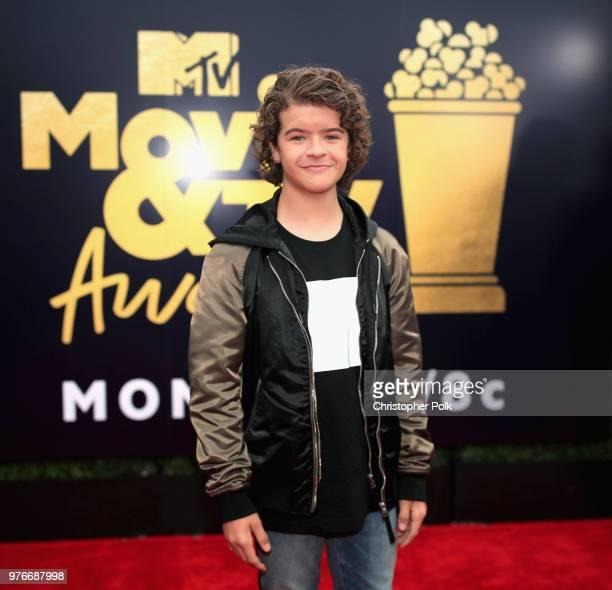 Actor Gaten Matarazzo attends the 2018 MTV Movie And TV Awards at Barker Hangar on June 16 2018 in Santa Monica California