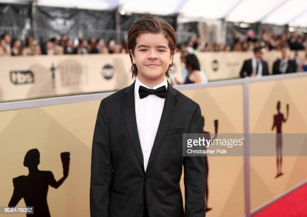 Actor Gaten Matarazzo attends the 24th Annual Screen Actors Guild Awards Trophy Room at The Shrine Auditorium on January 21 2018 in Los Angeles...