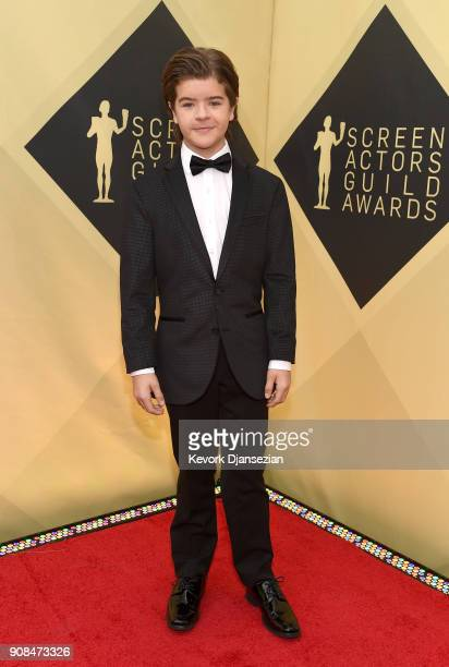Actor Gaten Matarazzo attends the 24th Annual Screen ActorsGuild Awards at The Shrine Auditorium on January 21 2018 in Los Angeles California