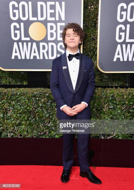 Actor Gaten Matarazzo attends The 75th Annual Golden Globe Awards at The Beverly Hilton Hotel on January 7 2018 in Beverly Hills California