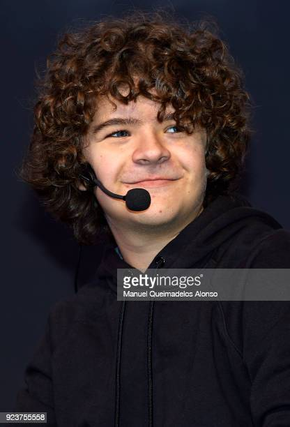 Actor Gaten Matarazzo attends the Heroes Comic Con at Feria Valencia on February 24 2018 in Valencia Spain