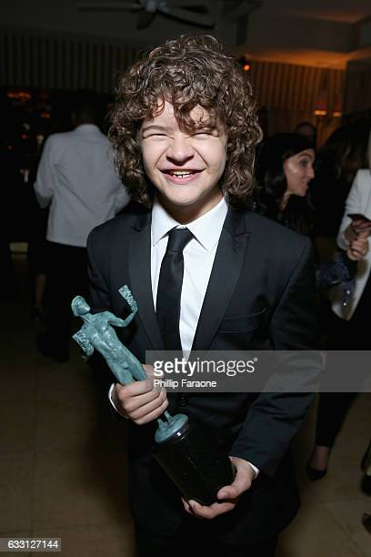 Actor Gaten Matarazzo attends The Weinstein Company Netflix's 2017 SAG After Party in partnership with Absolut Elyx at Sunset Tower Hotel on January...