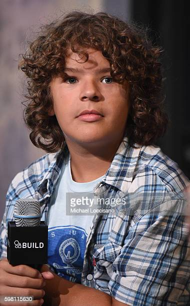 Actor Gaten Matarazzo of 'Stranger Things' attends the BUILD Series at AOL HQ on August 31 2016 in New York City