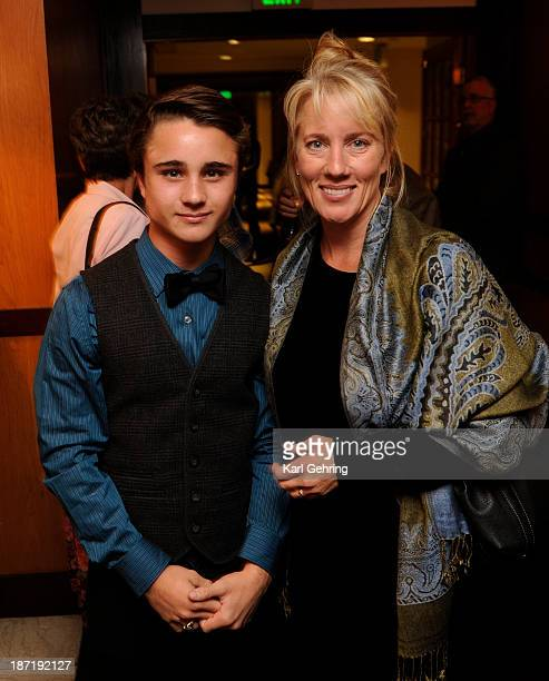 Actor Gattlin Griffith left posed with his mother Wendy as the 36th Starz Film Festival opened Wednesday night November 6 2013 with a showing of the...