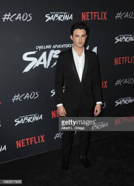 Actor Gavin Leatherwood arrives for the Premiere Of Netflix's Chilling Adventures Of Sabrina held at The Hollywood Athletic Club on October 19 2018...