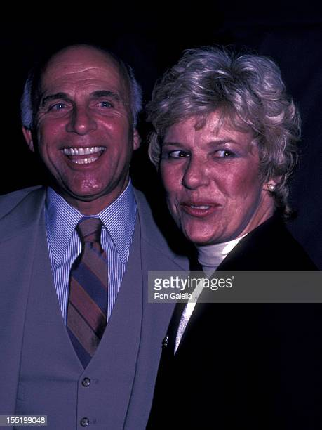 Actor Gavin MacLeod and wife Patti MacLeod attend ABC TV Affiliates Party on April 23 1983 at Chasen's Restaurant in Beverly Hills California