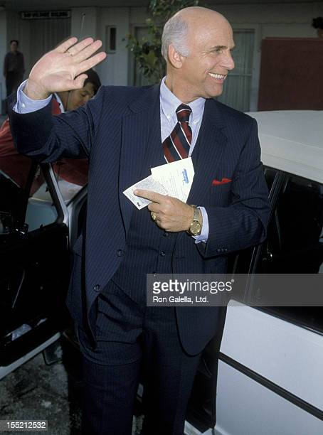 Actor Gavin MacLeod attends ABC TV Affiliates Party on May 9 1983 at the Century Plaza Hotel in Century City California