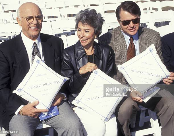 Actor Gavin MacLeod Rita Moreno and Robert Urich attend Christening of Cruise Ship Grand Princess on September 29 1998 at Pier 88 in New York City