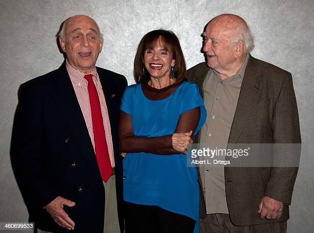 Actor Gavin MacLeod Valerie Harper and Ed Asner of The Mary Tyler Moore Show reunite at The Hollywood Show at Lowes Hollywood Hotel on January 4 2014...