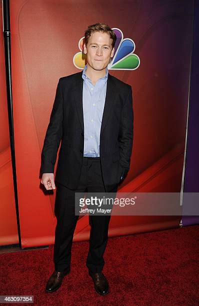 Actor Gavin Stenhouse attends the NBCUniversal 2015 Press Tour at the Langham Huntington Hotel on January 16 2015 in Pasadena California