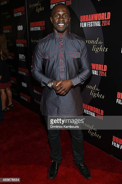Actor Gbenga Akinnagbe attends BEYOND THE LIGHTS opening The Urbanworld Film Festival at SVA Theater on September 18, 2014 in New York City.