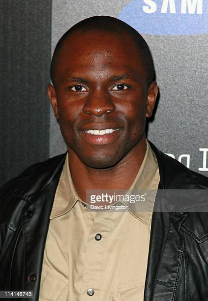 Actor Gbenga Akinnagbe attends the Samsung Infuse 4G launch event featuring Nicki Minaj at Milk Studios on May 12 2011 in Los Angeles California