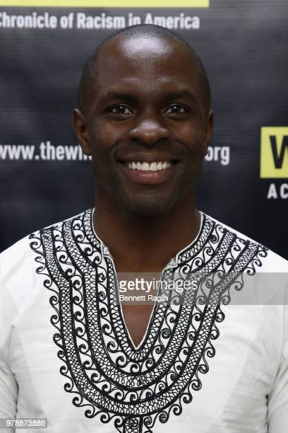 Yusef Salaam actor Jaden Michael Innocence Project Cofounder Barry Scheck and ACLU Deputy Legal Director Jeffery Robinson attend the reception for...